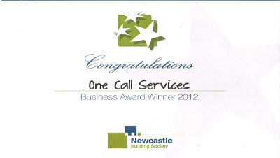 Cornerstone Award for One Call Services